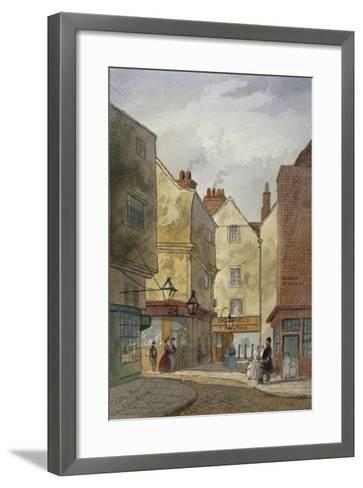 View of Cloth Fair and Middle Street, West Smithfield, City of London, 1867-EH Dixon-Framed Art Print