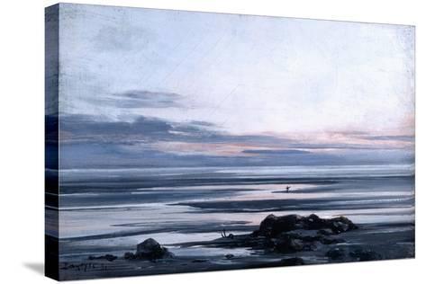 Mont St Michel, 1881-Emmanuel Lansyer-Stretched Canvas Print