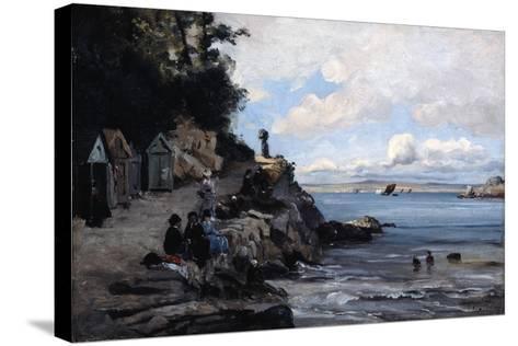 Saturday at the Woman's Bathing Beach, 1876-Emmanuel Lansyer-Stretched Canvas Print