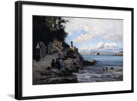 Saturday at the Woman's Bathing Beach, 1876-Emmanuel Lansyer-Framed Art Print