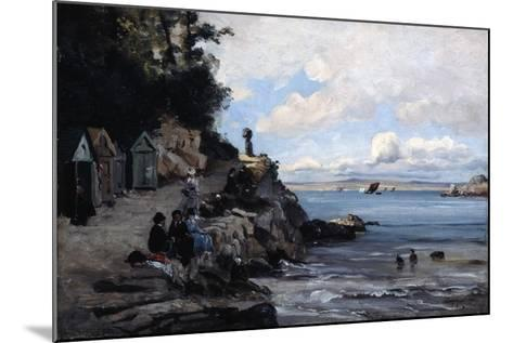 Saturday at the Woman's Bathing Beach, 1876-Emmanuel Lansyer-Mounted Giclee Print
