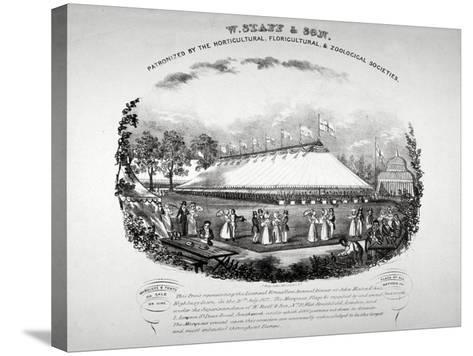 Highbury Barn, Islington, London, 1837-F Alvey-Stretched Canvas Print