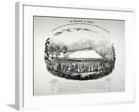Highbury Barn, Islington, London, 1837-F Alvey-Framed Art Print