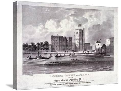 Lambeth Church and Palace, London, C1860-F Alvey-Stretched Canvas Print
