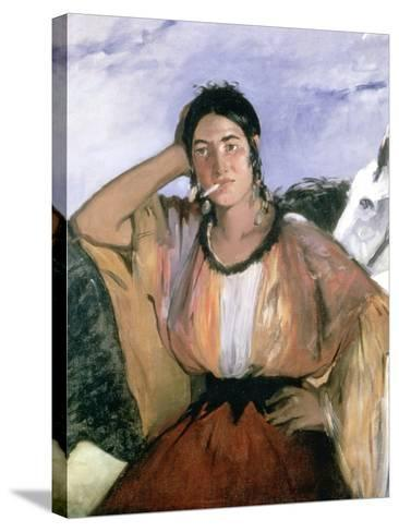 Gypsy with Cigarette, 1862-Edouard Manet-Stretched Canvas Print