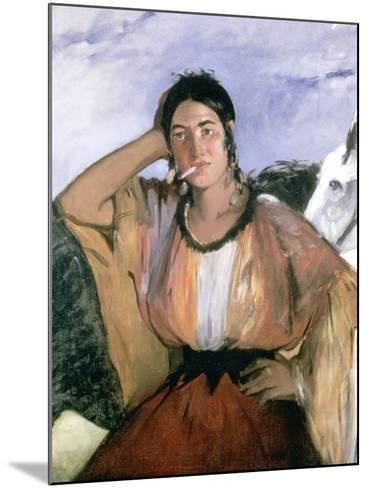 Gypsy with Cigarette, 1862-Edouard Manet-Mounted Giclee Print
