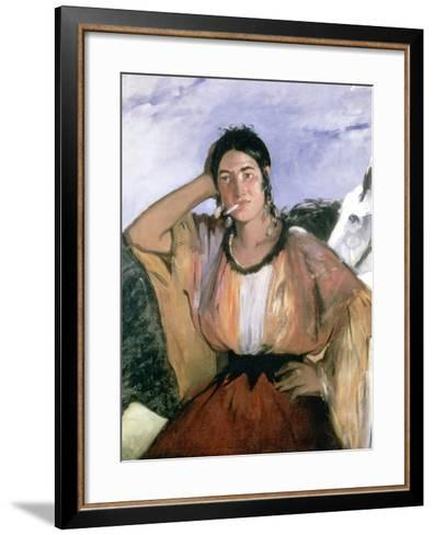 Gypsy with Cigarette, 1862-Edouard Manet-Framed Art Print