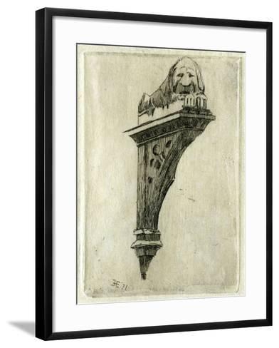 Sign of the Red Lion Inn, Glastonbury, Somerset, 1881-Edwin Edwards-Framed Art Print