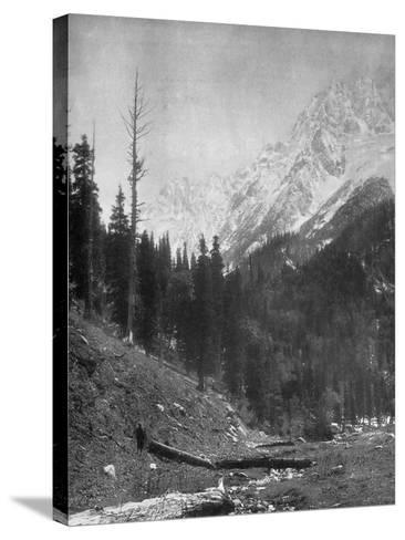 Sindh Valley Glaciers, Kashmir, India, Early 20th Century-F Bremner-Stretched Canvas Print