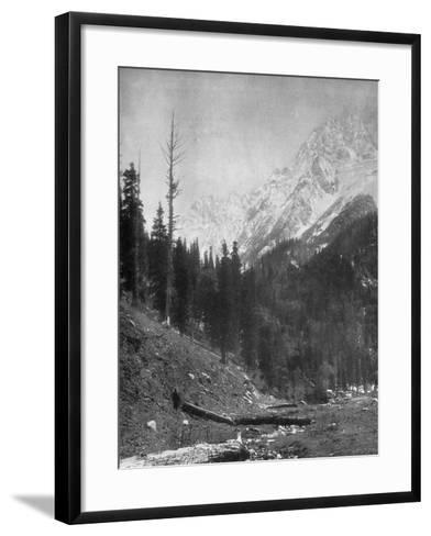 Sindh Valley Glaciers, Kashmir, India, Early 20th Century-F Bremner-Framed Art Print