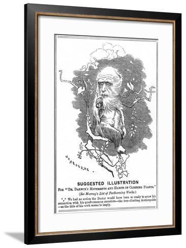 Charles Darwin, English Naturalist, 1875-Edward Linley Sambourne-Framed Art Print