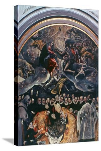 The Burial of Count Orgaz' (Detail), 1586-1588-El Greco-Stretched Canvas Print