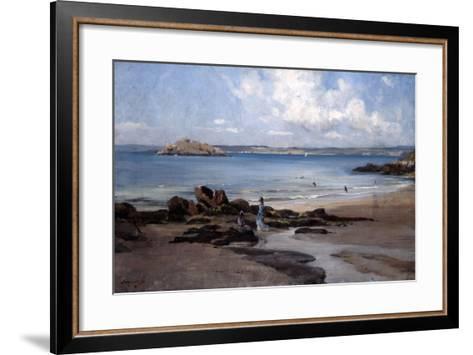 Woman's Bathing Beach, 1876-Emmanuel Lansyer-Framed Art Print