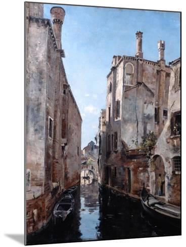 Surroundings of the Church San Sebastian, Venice, 1892-Emmanuel Lansyer-Mounted Giclee Print