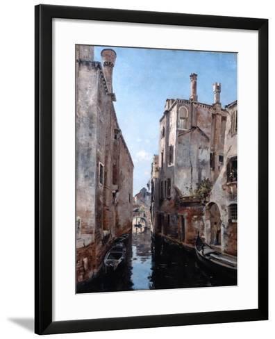 Surroundings of the Church San Sebastian, Venice, 1892-Emmanuel Lansyer-Framed Art Print