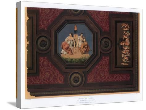Cabinet De Travail, Paris, 19th Century-F Durin-Stretched Canvas Print