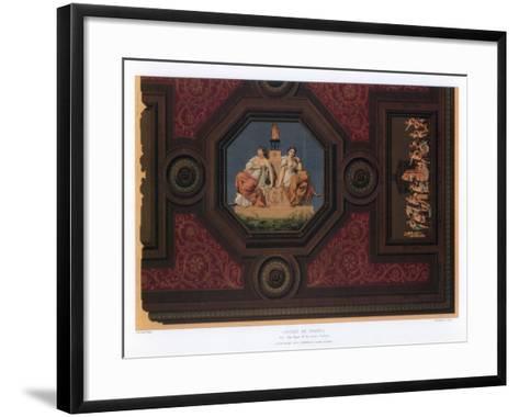 Cabinet De Travail, Paris, 19th Century-F Durin-Framed Art Print