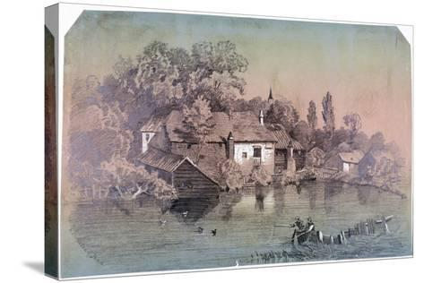 Hampstead Heath, Hampstead, London, C1850-F Hodges-Stretched Canvas Print