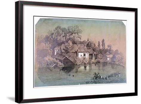 Hampstead Heath, Hampstead, London, C1850-F Hodges-Framed Art Print