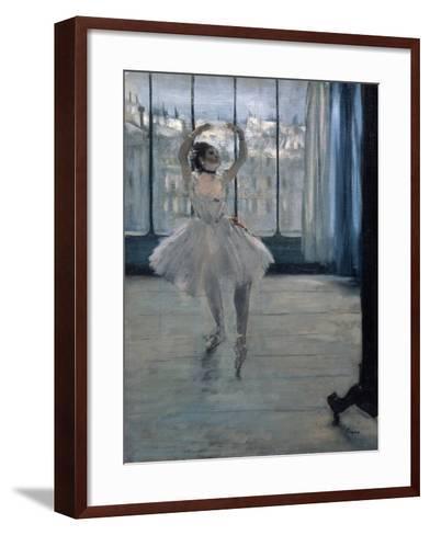 Dancer at the Photographer, 1875-Edgar Degas-Framed Art Print