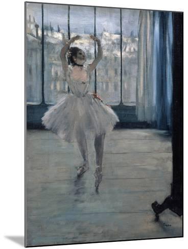 Dancer at the Photographer, 1875-Edgar Degas-Mounted Giclee Print