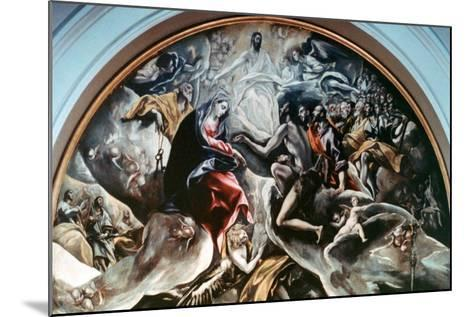 The Burial of Count Orgaz' (Detail), 1586-1588-El Greco-Mounted Giclee Print