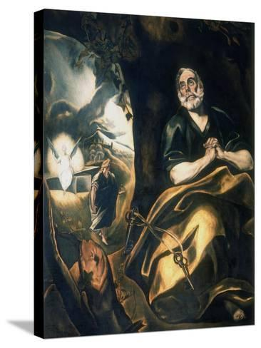 St Peter's Tears, C1561-1614-El Greco-Stretched Canvas Print