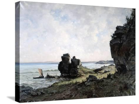 A Beautiful Morning at the Coast of Brittany, 1882-Emmanuel Lansyer-Stretched Canvas Print