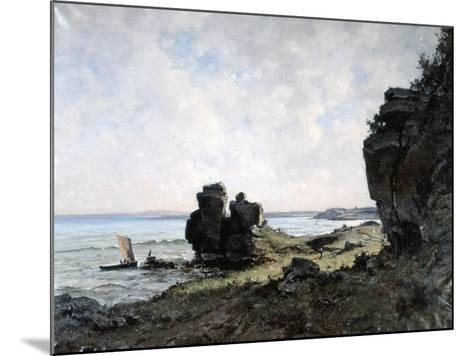 A Beautiful Morning at the Coast of Brittany, 1882-Emmanuel Lansyer-Mounted Giclee Print
