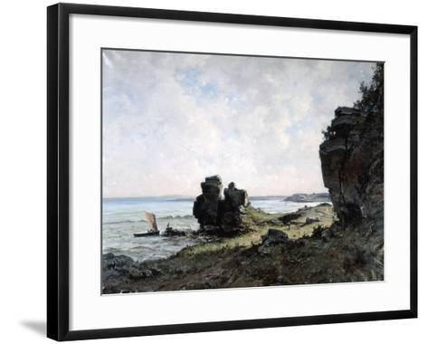 A Beautiful Morning at the Coast of Brittany, 1882-Emmanuel Lansyer-Framed Art Print