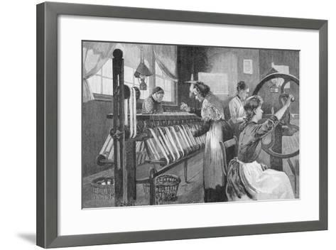 Spitalfields Silk Weavers, 1893-Enoch Ward-Framed Art Print