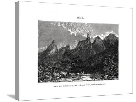 Serra Dos Órgãos, Brazil, 19th Century-Edouard Riou-Stretched Canvas Print