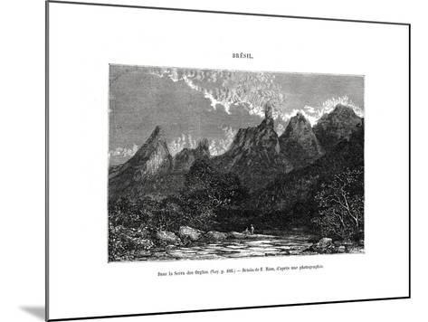 Serra Dos Órgãos, Brazil, 19th Century-Edouard Riou-Mounted Giclee Print