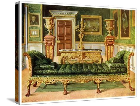 Mahogany and Gilt Georgian Suite, Longford Castle, Wiltshire, 1911-1912-Edwin Foley-Stretched Canvas Print