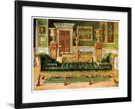 Mahogany and Gilt Georgian Suite, Longford Castle, Wiltshire, 1911-1912-Edwin Foley-Framed Art Print
