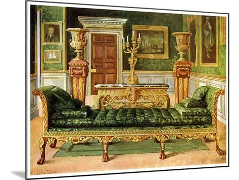 Mahogany and Gilt Georgian Suite, Longford Castle, Wiltshire, 1911-1912-Edwin Foley-Mounted Giclee Print