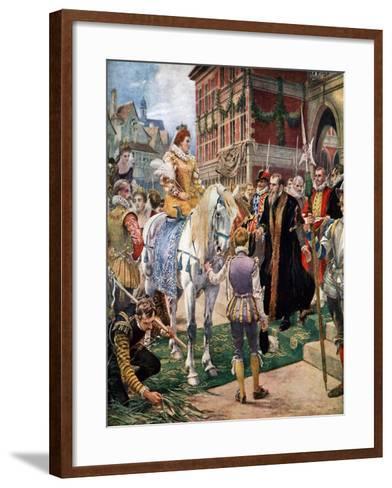 Queen Elizabeth Opening the Royal Exchange in 1570-Ernest Crofts-Framed Art Print