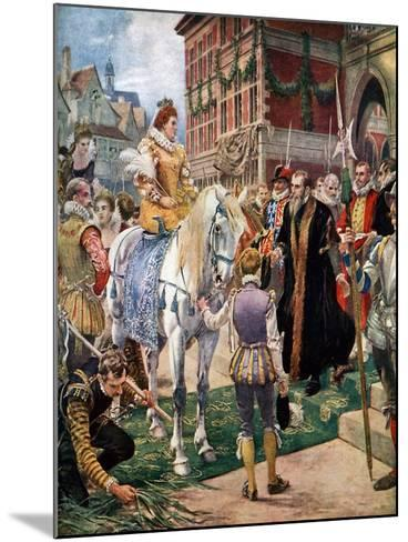 Queen Elizabeth Opening the Royal Exchange in 1570-Ernest Crofts-Mounted Giclee Print