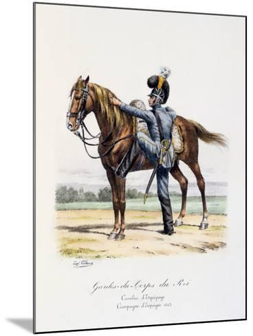 Gardes-Du-Corps De Roi, Cavalier D'Equipage, Spanish Campaign, 1823-Eugene Titeux-Mounted Giclee Print