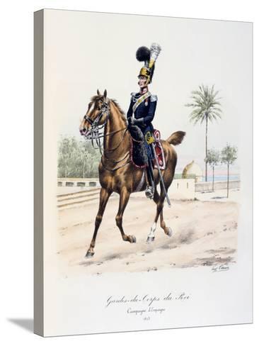 Gardes-Du-Corps De Roi, Spanish Campaign, 1823, C1814-1830-Eugene Titeux-Stretched Canvas Print