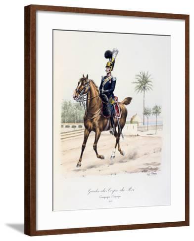 Gardes-Du-Corps De Roi, Spanish Campaign, 1823, C1814-1830-Eugene Titeux-Framed Art Print
