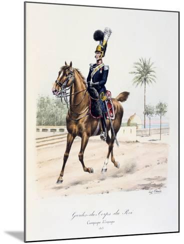 Gardes-Du-Corps De Roi, Spanish Campaign, 1823, C1814-1830-Eugene Titeux-Mounted Giclee Print