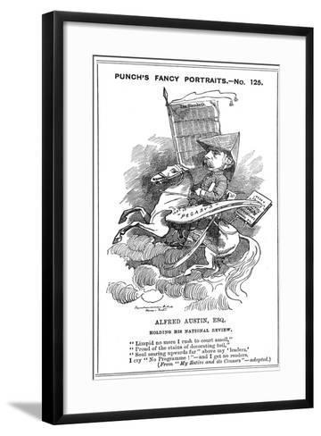 Alfred Austin (1835-191), British Poet, 1883-Edward Linley Sambourne-Framed Art Print
