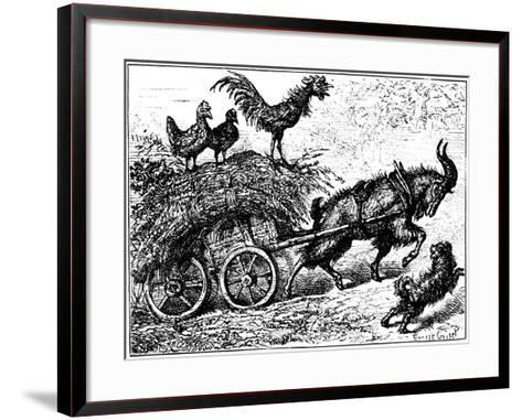 Illustration from the Children's Book Little Bo-Peep, C1880-Ernest Henry Griset-Framed Art Print