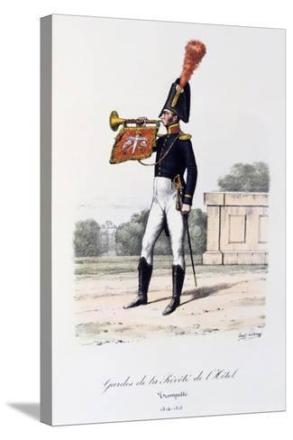 Gardes De La Prevote De L'Hotel, Trumpeter, 1814-16-Eugene Titeux-Stretched Canvas Print