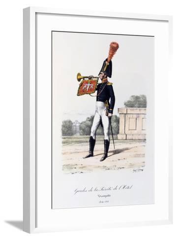 Gardes De La Prevote De L'Hotel, Trumpeter, 1814-16-Eugene Titeux-Framed Art Print