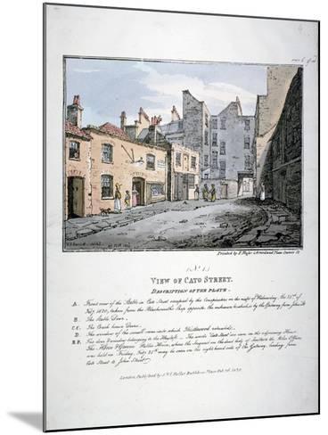 Cato Street, Marylebone, London, 1820-F Moser-Mounted Giclee Print