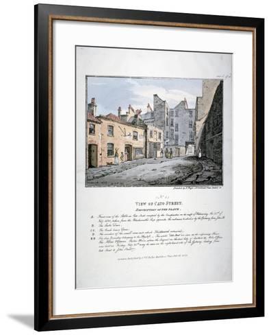 Cato Street, Marylebone, London, 1820-F Moser-Framed Art Print