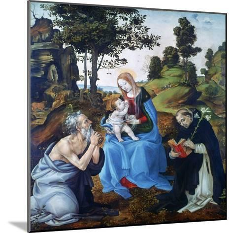 The Virgin and Child with Saints Jerome and Dominic, C1485-Filippino Lippi-Mounted Giclee Print