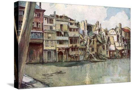 The Meuse River, Verdun, France, June 1916-Francois Flameng-Stretched Canvas Print